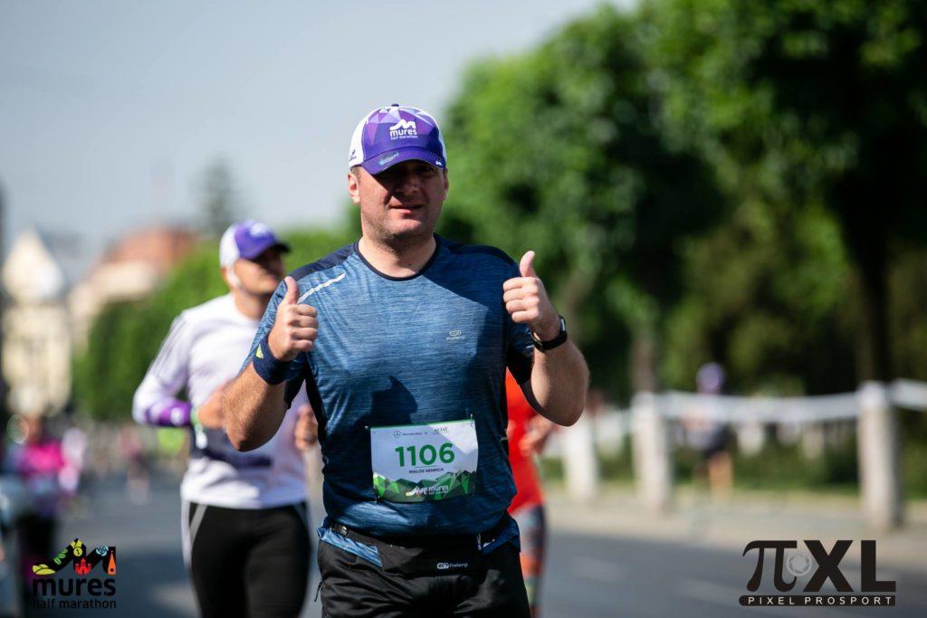 Grávuj Miklós Henrich la Mureș Half Marathon din 2018