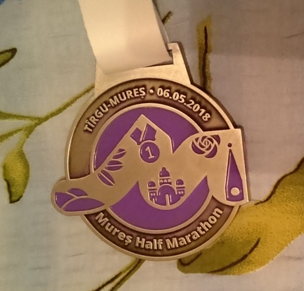 medalia de la Mureș Half Marathon