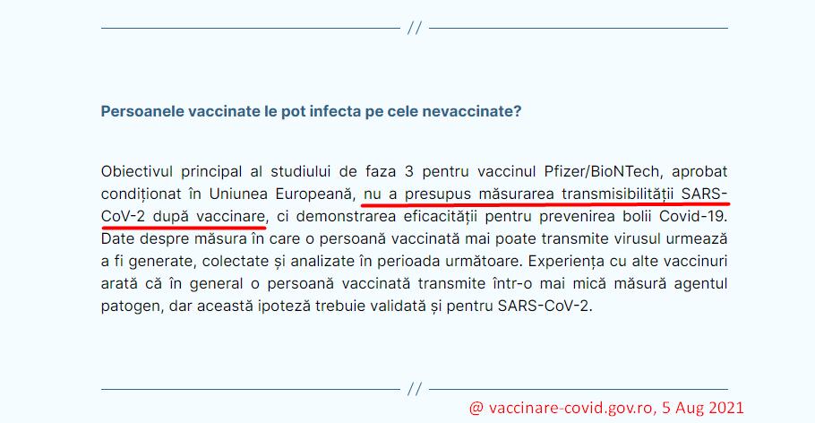 Persoanele vaccinate le pot infecta pe cele nevaccinate?